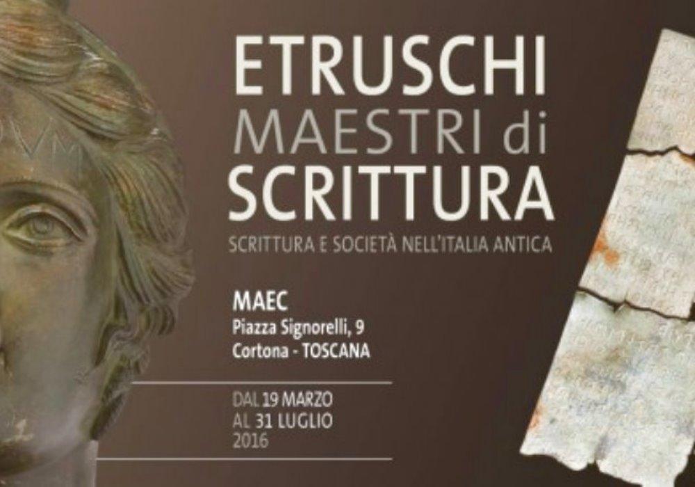 PASQUA TRA ARTE E CULTURA Etruschi maestri di scrittura a Cortona